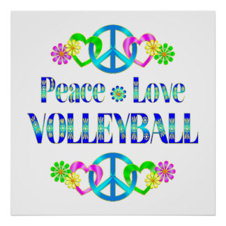 Peace Love Volleyball Posters