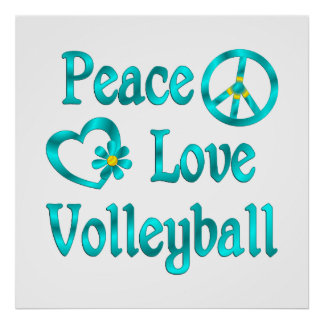 Peace Love Volleyball Print
