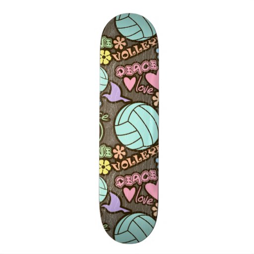 Peace, Love, Volleyball Skateboard