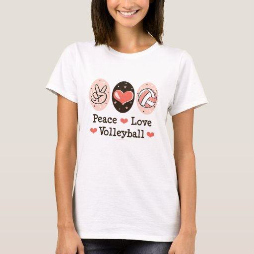 Peace Love Volleyball T shirt