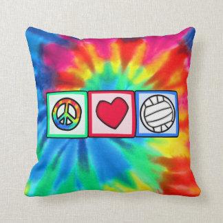 Peace, Love, Volleyball Throw Cushion