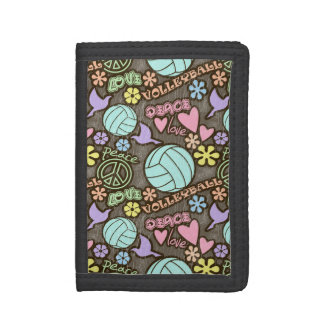 Peace, Love, Volleyball Trifold Wallet