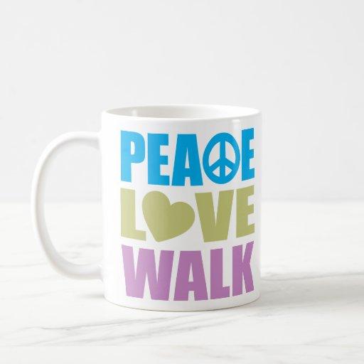 Peace Love Walk Coffee Mugs