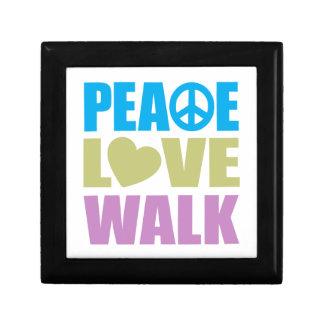 Peace Love Walk Small Square Gift Box