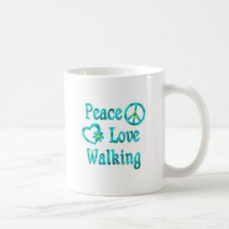 Peace Love Walking Coffee Mug