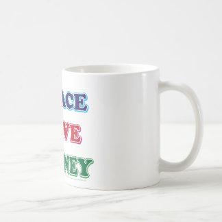 Peace-Love-Wall-Money Basic White Mug