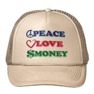 Peace-Love-Wall-Money Cap