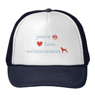 Peace Love Weimaraners Mesh Hat