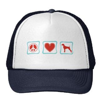 Peace Love Weimaraners Squares Trucker Hat