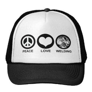 Peace Love Welding Hat