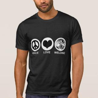 Peace Love Welding Tee Shirt