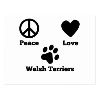 Peace Love Welsh Terriers Postcard