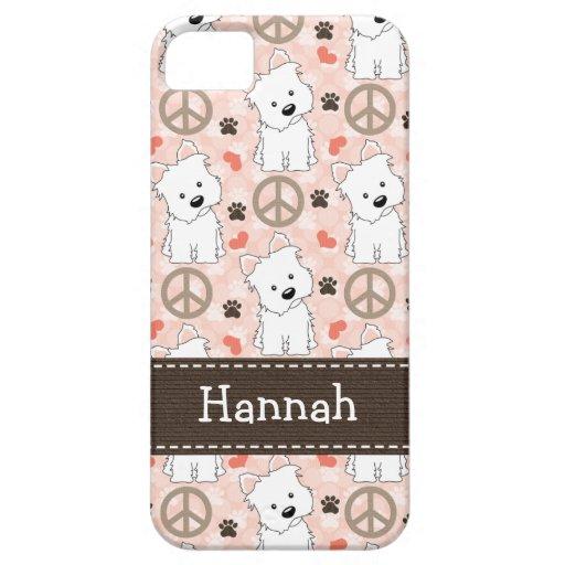Peace Love Westies iPhone 5 Covers