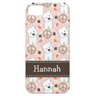 Peace Love Westies iPhone 5 Cover