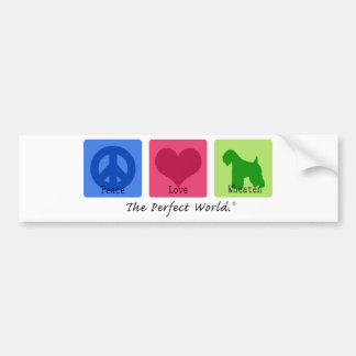 Peace Love Wheaten Bumper Sticker