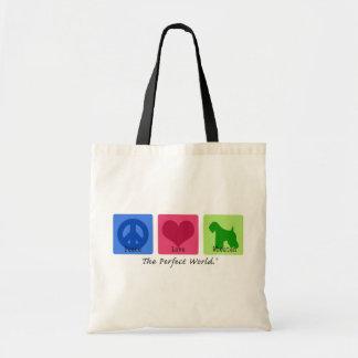 Peace Love Wheaten Tote Bag