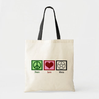 Peace Love Wicca Budget Tote Bag