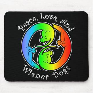Peace, Love, & Wiener Dogs Mousepad