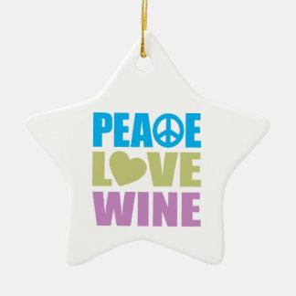 Peace Love Wine Christmas Ornament