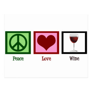 Peace Love Wine Postcard