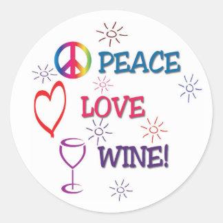 Peace Love Wine sticker