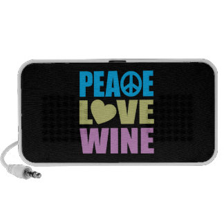 Peace Love Wine Travelling Speakers
