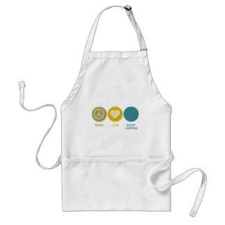 Peace Love Wood Carving Standard Apron