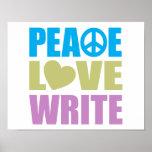 Peace Love Write Print