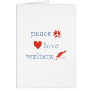 Peace Love Writers Card