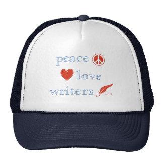Peace Love Writers Hat