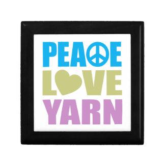 Peace Love Yarn Keepsake Box