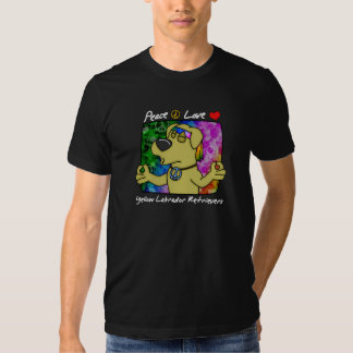 Peace Love Yellow Lab Dark TShirt