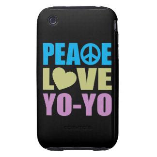 Peace Love Yo-Yo iPhone 3 Tough Case