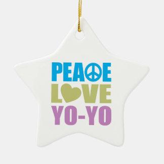 Peace Love Yo-Yo Christmas Ornament