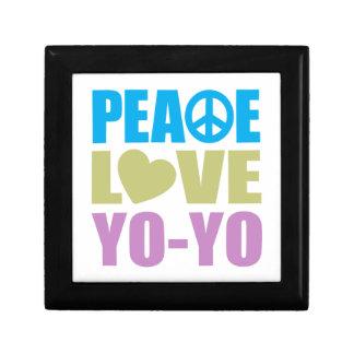 Peace Love Yo-Yo Small Square Gift Box
