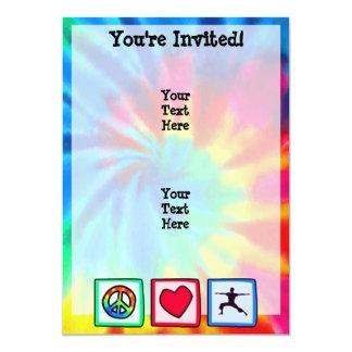 Peace, Love, Yoga 13 Cm X 18 Cm Invitation Card