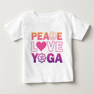Peace Love Yoga Baby T-Shirt