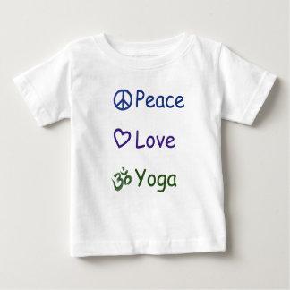 Peace Love Yoga Baby T-Shirt