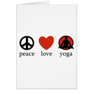 Peace Love Yoga Gift Greeting Card
