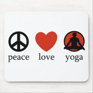 Peace Love Yoga Gift Mousepads