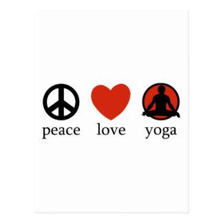 Peace Love Yoga Gift Postcard