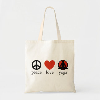 Peace Love Yoga Gift Tote Bag