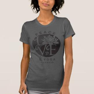 Peace, Love, & Yoga Gray-Black T-Shirt