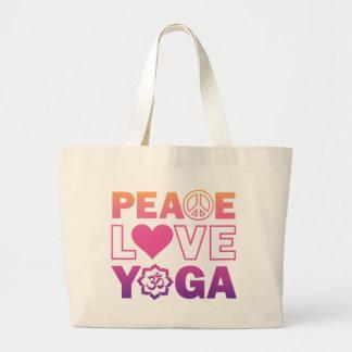 Peace Love Yoga Jumbo Tote Bag