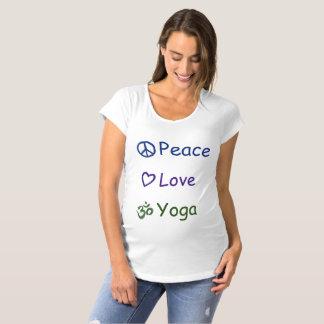 Peace Love Yoga Maternity T-Shirt