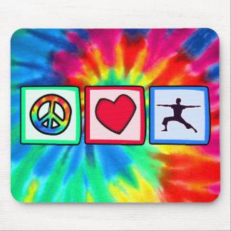 Peace, Love, Yoga Mouse Mat