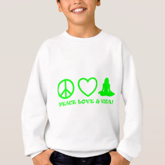 PEACE LOVE & YOGA PICTURES GREEN SWEATSHIRT
