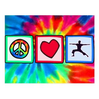 Peace, Love, Yoga Postcard