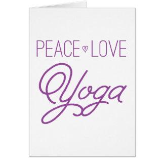 Peace, Love, Yoga (Purple) Card