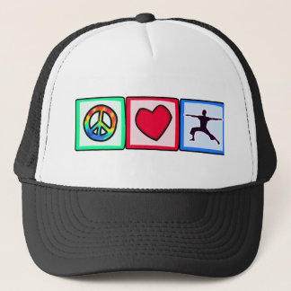 Peace, Love, Yoga Trucker Hat